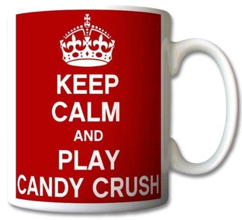 Houd kalm en speel snoep Crush Mok Cup Gift Retro