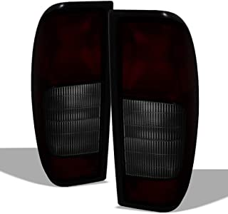 ACANII - For Black Tinted 1998-2004 Nissan Frontier Tail Lights Brake Lamps 98-04 Left+Right Set