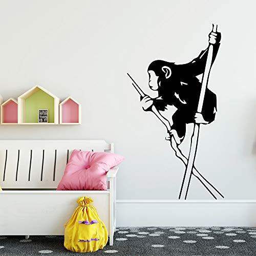 BailongXiao Etiqueta de la Pared del Mono Etiqueta de la Pared Decorativa para la Sala de los niños Sala de Estar decoración del hogar Tatuajes de Arte de Pared 45x81 cm