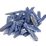 MAXIAOTONG Cristal Natural Azul de kyanite Grava sin pulir Piedras caía cianita para jardín y Chips de Piedra casera (Color : Around30-50mm, Size : 300g)