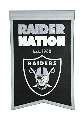 Winning Streak Sports NFL Oakland Raiders Franchise Banner - Wall Decor for Sports Fans
