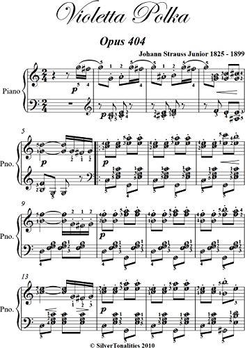 Violetta Polka Opus 404 Easy Intermediate Piano Sheet Music (English Edition)