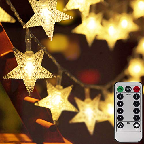 Homeleo 50ft 100 LED Star String Lights,Battery Operated LED Star Lights