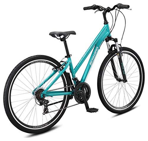 Schwinn Network 1 Womens Hybrid Bike,700c Wheels, 15-Inch Frame, 21 Speed, Alloy Linear Pull Brakes, Teal