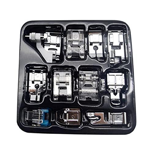 KunmniZ Juego de prensatelas 11 Piezas 505A prensatelas para máquina de Coser a presión para Brother Singer Janome máquina de Coser de bajo Utilice Accesorios de Costura y Suministros