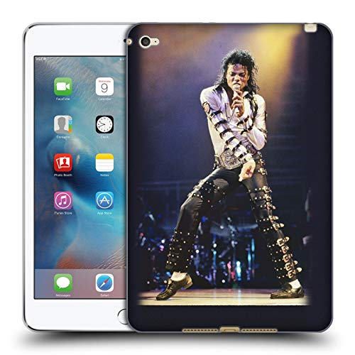 Head Case Designs Officially Licensed Michael Jackson Bad Tour Iconic Photos Soft Gel Case Compatible with Apple iPad Mini 4