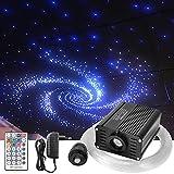 Kit de cable de luz de fibra óptica, de 16W RGBW para luz de techo, con 150–450 unidades de 0,75mm, 2m de fibras ópticas y mando a distancia con 28 teclas