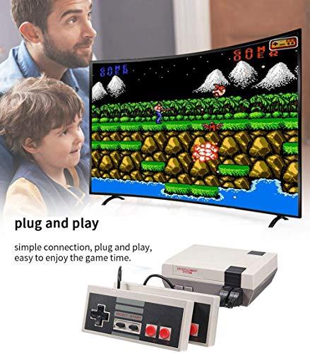 AMITD 2020 Plug clásico Juego de Consola portátil clásico Juego de Consola Incorporado de 620 Juego Consola de Videojuegos Consola de Juegos portátil Reproductor de Familia TV Video