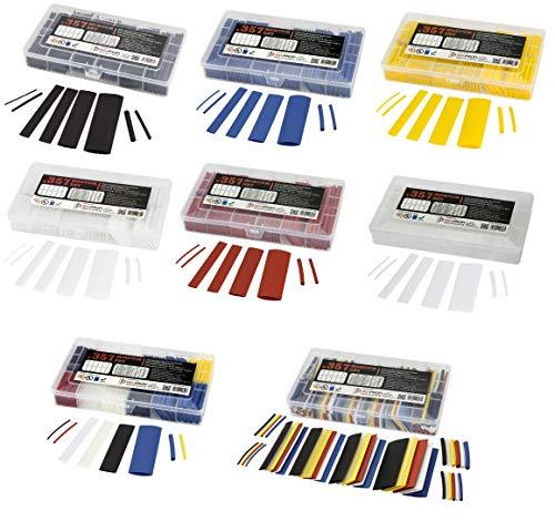 ISO-PROFI® 357-tlg Magnum Schrumpfschlauch Sortiment Set Box Schwarz 2:1