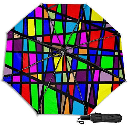 Patrón Vector Diseño Patrón Moderno Decoración Sol Lluvia Manual Tri-fold Paraguas