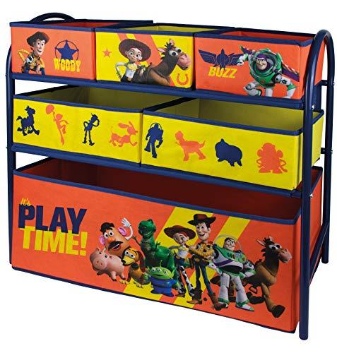 URBN Toys - Boîte de rangement à jouets en métal avec 6 tiroirs en tissu motifs Disney & Marvel - 3 motifs différents - 65 x 28 x 63 cm