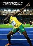 IFUNEW Lona Pared Arte Póster de película Usain Bolt Pintura de Pared Decorativa 60x90cm