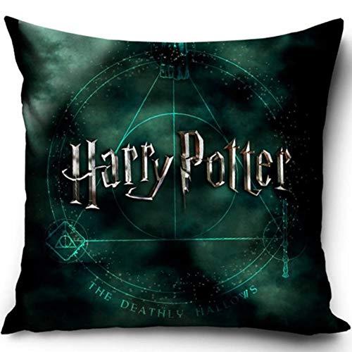 Harry Potter Kissenhülle Kissenbezug 40x40 cm (Grün)