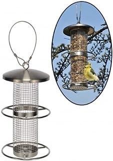 Gravidus stacja dokarmiania ptaków ze stali nierdzewnej, odporna na warunki atmosferyczne, 27,5 cm