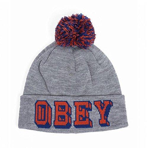 Obey - Bonnet Homme University Pom Pom Beanie - Heather Grey