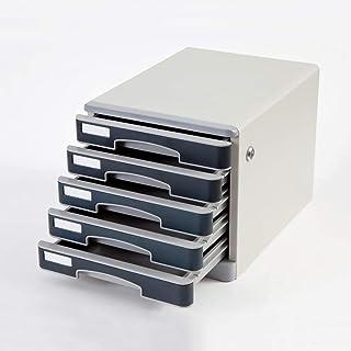 KANJJ-YU 5 couches de bureau tiroirs trieuse bureau verrouillables de stockage des données confidentialité Tiroir de burea...