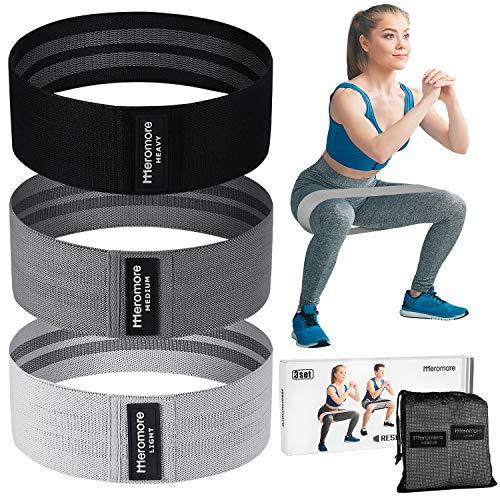 Meromore Fitnessband [3er Set] Fitnessbänder/Widerstandsbänder Set Loop-Band für 3 Widerstandsstufen für Hintern und Beine, Resistance Hip Bands für Beintraining, Krafttraining und Klimmzüge