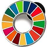 SDGs ピンバッジ バッチ バッジ 2020 最新仕様 琺瑯工芸 国連本部限定 (最新仕様 珐琅彩(50個))