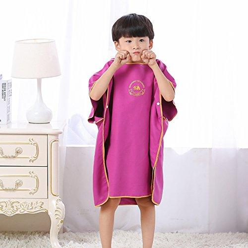 Jian Ya Na kinderen unisex outdoor veranderen badjas handdoek Poncho met capuchon baby bad mantel water absorberend snel droog badjas strand zwemmen badjas