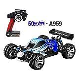 ♣♣Tianya - Wltoys A959 540高速モーター50Km / Hを更新1:18 4D 2.4G Rcカー(ブルー)