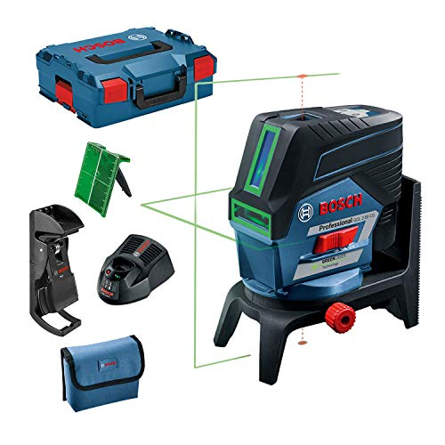 Bosch Professional 12V System Linienlaser GCL 2-50 CG (1x Akku 12V + Ladegerät, grüner Laser, Innenbereich, mit App-Funktion und Halterung, sichtbarer Arbeitsbereich: bis 20 m, in L-BOXX)