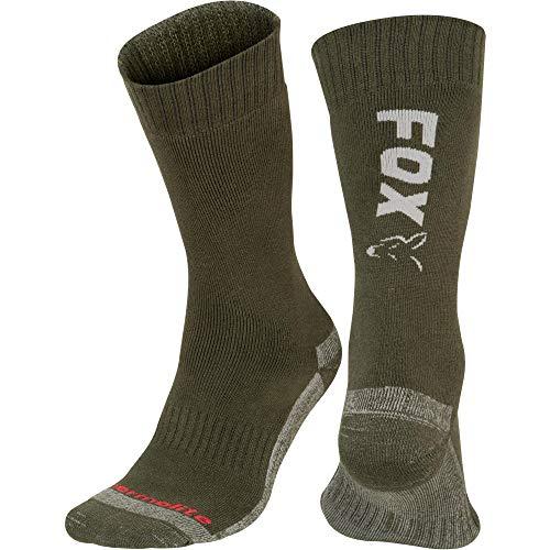 FOX Green/Silver Thermolite Long Sock 10-13 EU 44-47