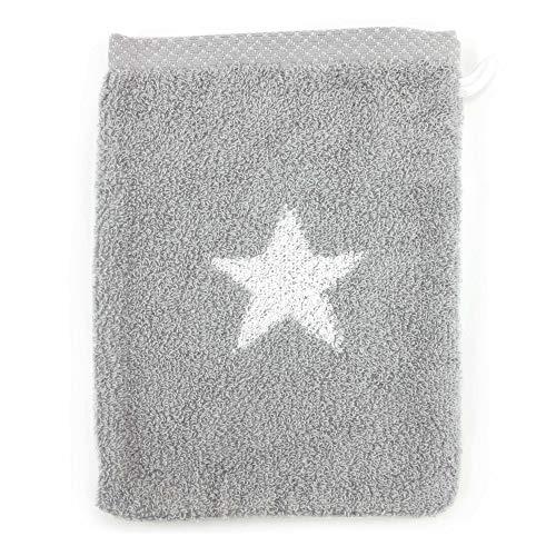 Linnea Gant de Toilette 16x21 cm 100% Coton 480 g/m2 Stars Gris
