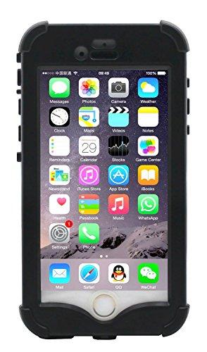 """LifeBox iPhone 6/6s Rugged Protection Case - Waterproof Dustproof Shockproof Snowproof Crash Proof - Retail Packaging - Apple iPhone 6/6s 4.7"""" (Black)"""
