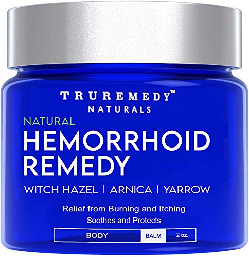 Remedy Hemorrhoid Balm – Fast Relief Hemorrhoid Cream for Burning, Itching, Pain, Swelling & Soothing | Anel Fissure Treatment | Witch Hazel Arnica & Yarrow Hemorrhoidal Ointment - 2 Oz