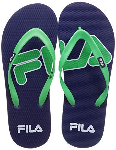 Fila Men EMRO Blue Lot/LIM Green Slippers-8 UK (42 EU) (9 US) (11008223)