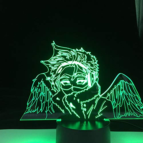 Boku no Hero Academia Hawks ANIME Lights 3D Led Lamp MY HERO ACADEMIA Color Changing Nightlights Lampara For Gift