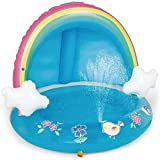 Piscina Inflable para niños Rainbow Pool Sprinkler Water Toys Easy Set Piscina para Patio Trasero Piscina para niños para Mayores de 3 años Uptodate