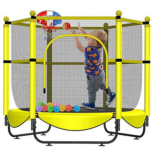 Asee'm 60' Trampoline for Kids with Net - 5 FT Indoor...