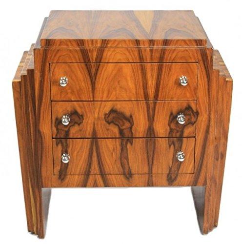 Casa Padrino Art Deco Kommode Mahagoni - Handgefertigt aus Massivholz - Nachtschrank Nachttisch...