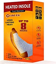 WORLD-BIO Disposable Insole Foot Warmers - Long Lasting Safe Natural Odorless Air Activated Warmers - Provide 8 Plus Hour Heating - 16 Pairs Value Pack