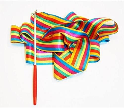 Gym Dance Ribbon Gymnastics Art Ballet Streamer Twirling Rod Outdoor Sport *MO
