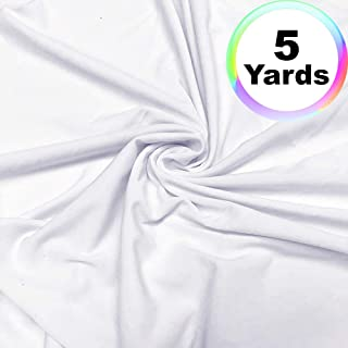 white spandex fabric by the yard