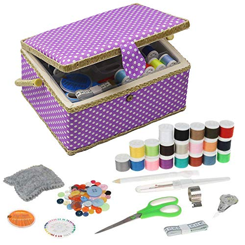 Best Price Large Sewing Box with Kit Accessories Sewing Basket Organizer with Supplies DIY Sewing Ki...