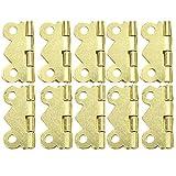 DIMENXONG Bricolaje y Herramientas 10pcs / Set Hardware Mini Puerta de la Mariposa bisagras cajón del gabinete de la Caja de joyería bisagra for Mueble (Color : Yellow)