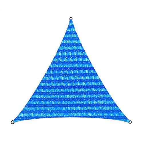Wyi Toldo triangular de 3,5 x 3,5 x 3,5 m, color azul con protección contra rayos UV, toldo para exteriores, jardín, patio, patio