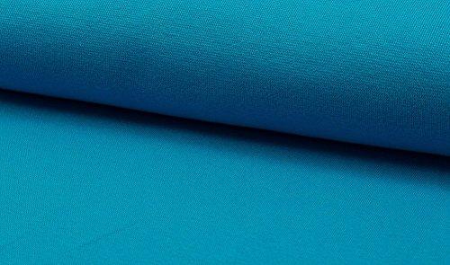 Lilakind Bündchen Stoff Uni 50 cm Türkis