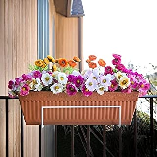 Sun Joe FPH1801-W Deco Joe Flower Box Holder in White