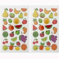 フルーツ グラシアス フルーツいっぱいのキラキラシール 2枚セット