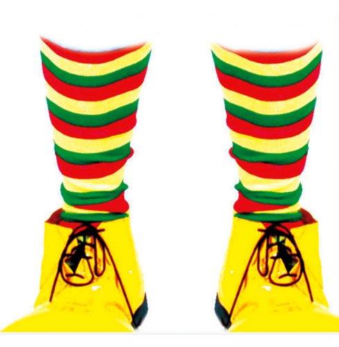 Fiesta Palace - paire de chaussette clown rouge jaune vert