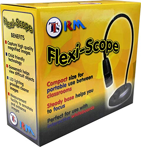 Bee-Bot Flexi-Scope Digital USB Kids Microscope 10X-200X Handheld, Portable, Mini | Recorder, Camera with 6 LED Lights