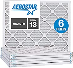 Aerostar 10x20x1 MERV 13 Pleated Air Filter, AC Furnace Air Filter, 6 Pack (Actual Size: 9 1/2
