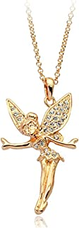 Gold Plated Tinkerbell Swarovski Elements Crystal Pendant Necklace Fashion Jewelry for Women