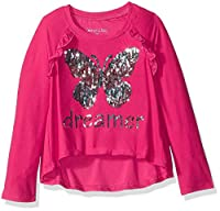 Colette Lilly Girls' Long Sleeve Sequin Tee