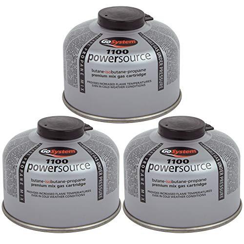 Go System 3 x Schraubkartusche Ventil Gas Kartusche Kocher Iso Butan/Propan 100 g