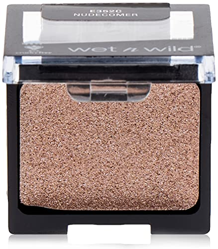 Wet n wild - COLOR ICON EYESHADOW GLITTER SINGLE - Ombre à paupières - Texture soyeuse - Teinte nudecomer - Made in US - Cruelty Free - Produit Vegan